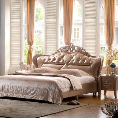 Carolean Luxury Dubai Style Upholstered King Bed Furniture D520