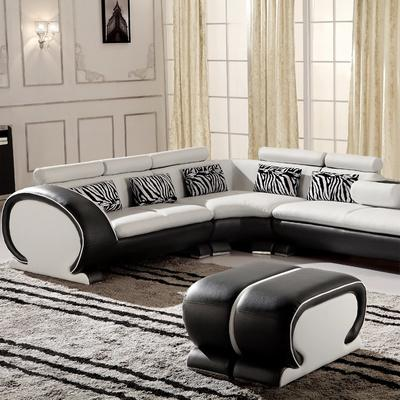 Carolean Popular Design L Shape Combination Leather Sofa SF15