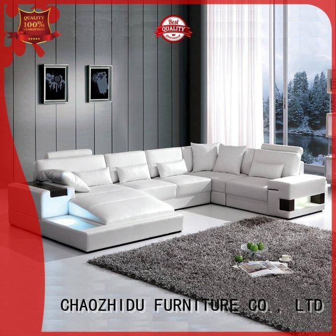 Led U Shape Leather Sofa