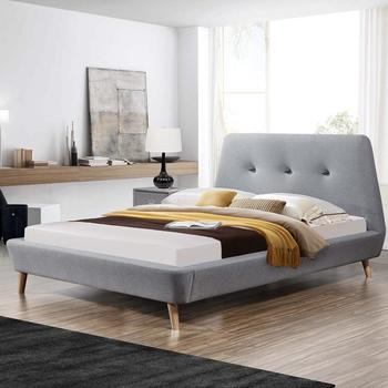 fabric upholstered cheap wholesale bed 1809